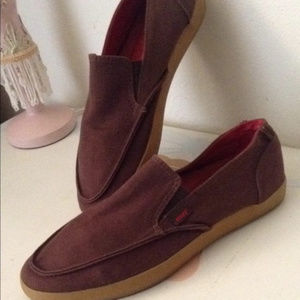 Reef Canvas Slip on Loafers Shoes EUC